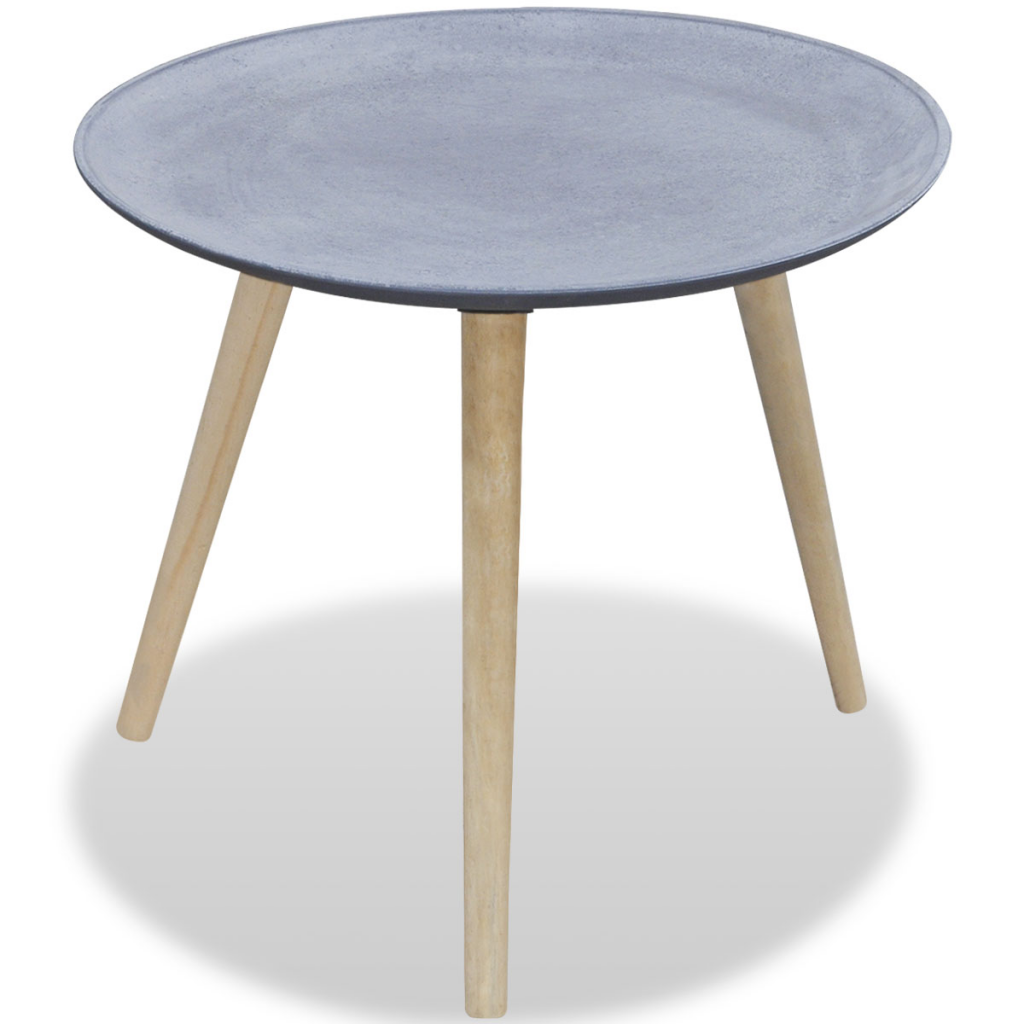 Round Table Coffee Only Us4849 Round Side Table Coffee Table Gray Concrete