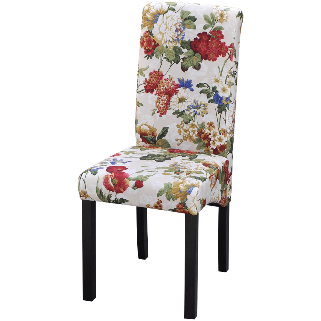 Only US 16672 Dining Chairs 4 pcs Floral Design wood LovDock – Floral Dining Chairs