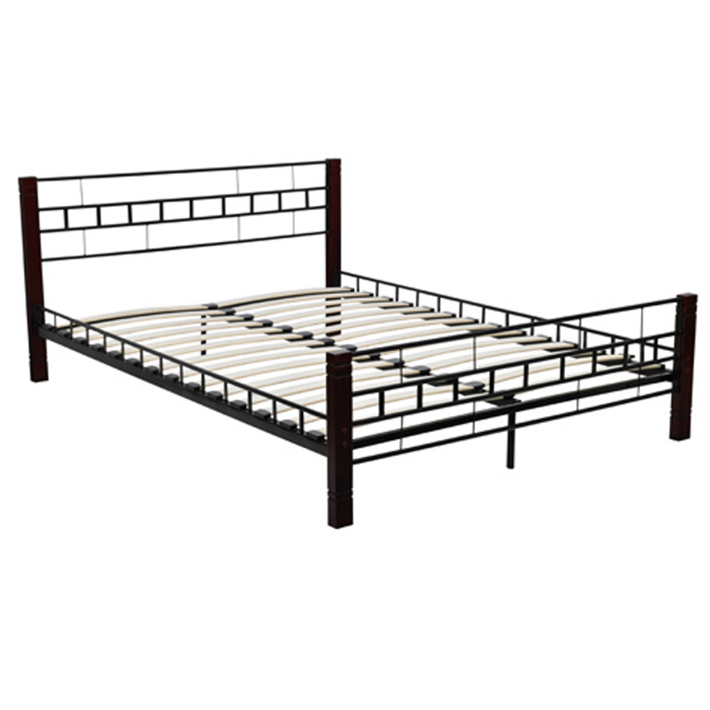 only us bed metal black and red brucciato with. Black Bedroom Furniture Sets. Home Design Ideas