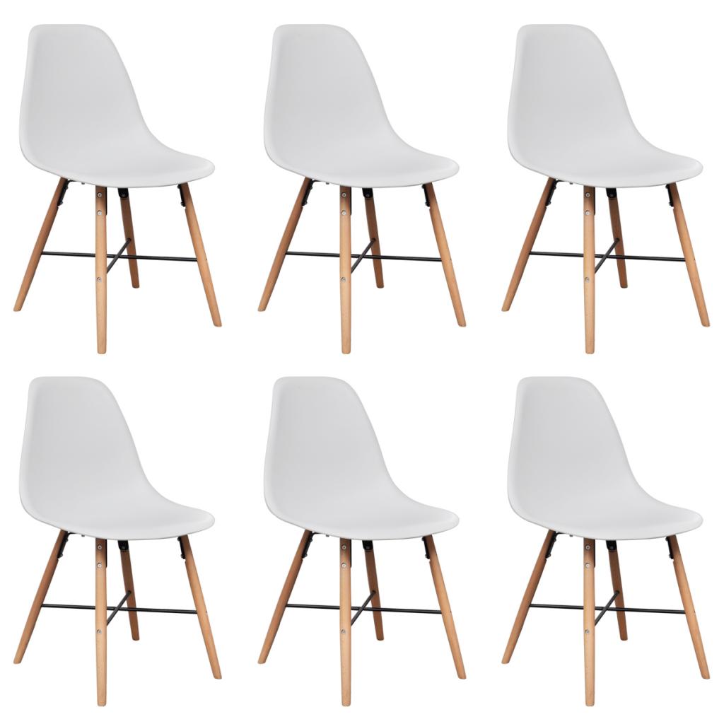S lo 6 blanca sin brazos sillas de comedor con - Sillas con brazos para comedor ...
