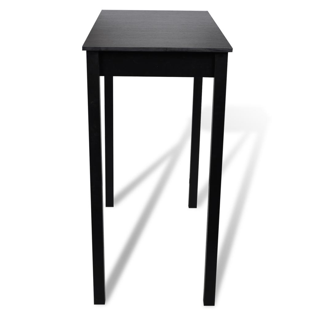 Only table de salle manger noire table 115 x 55 - Table de salle a manger noire ...
