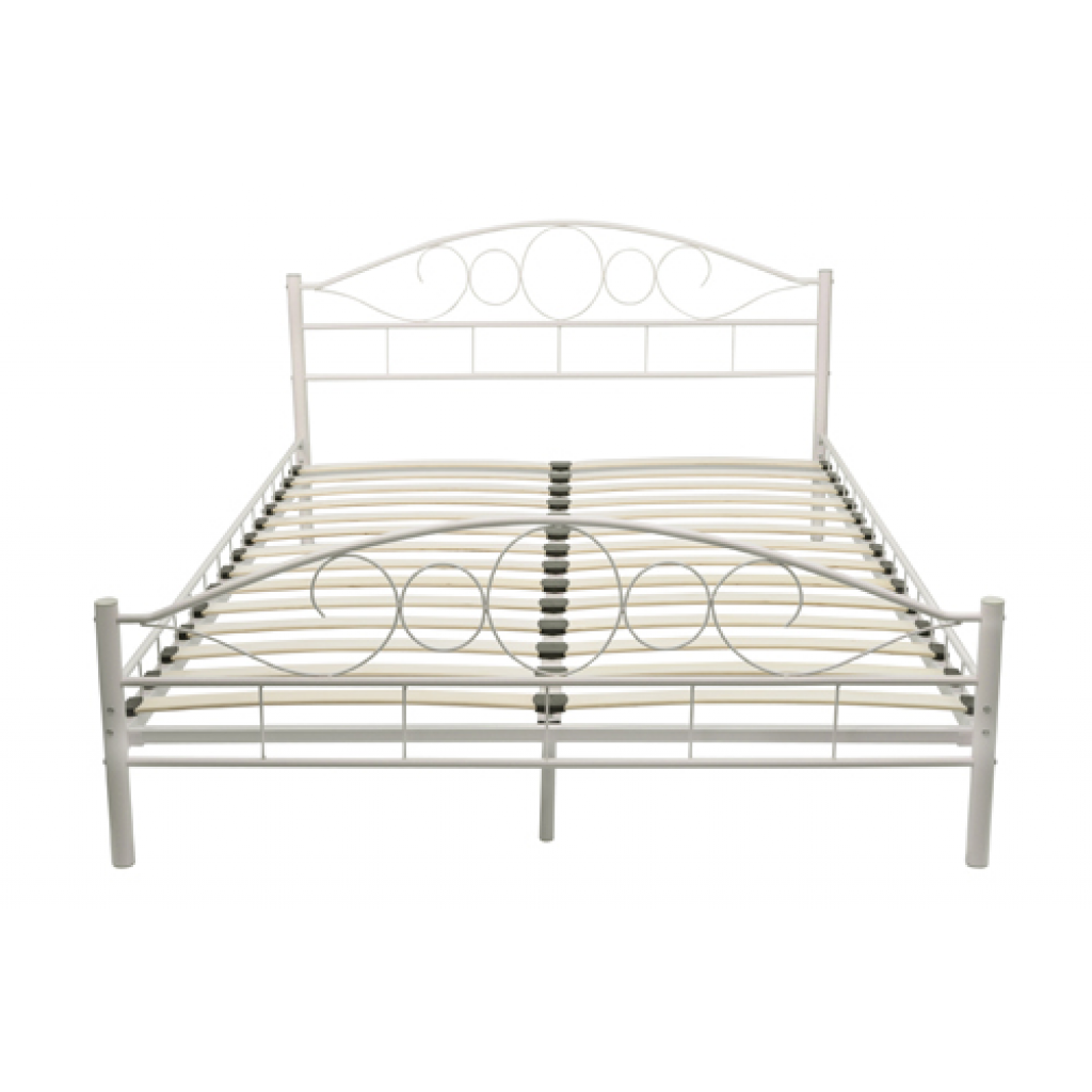 nur ehe metallbett 140x200 cm wei geschwungenes design. Black Bedroom Furniture Sets. Home Design Ideas