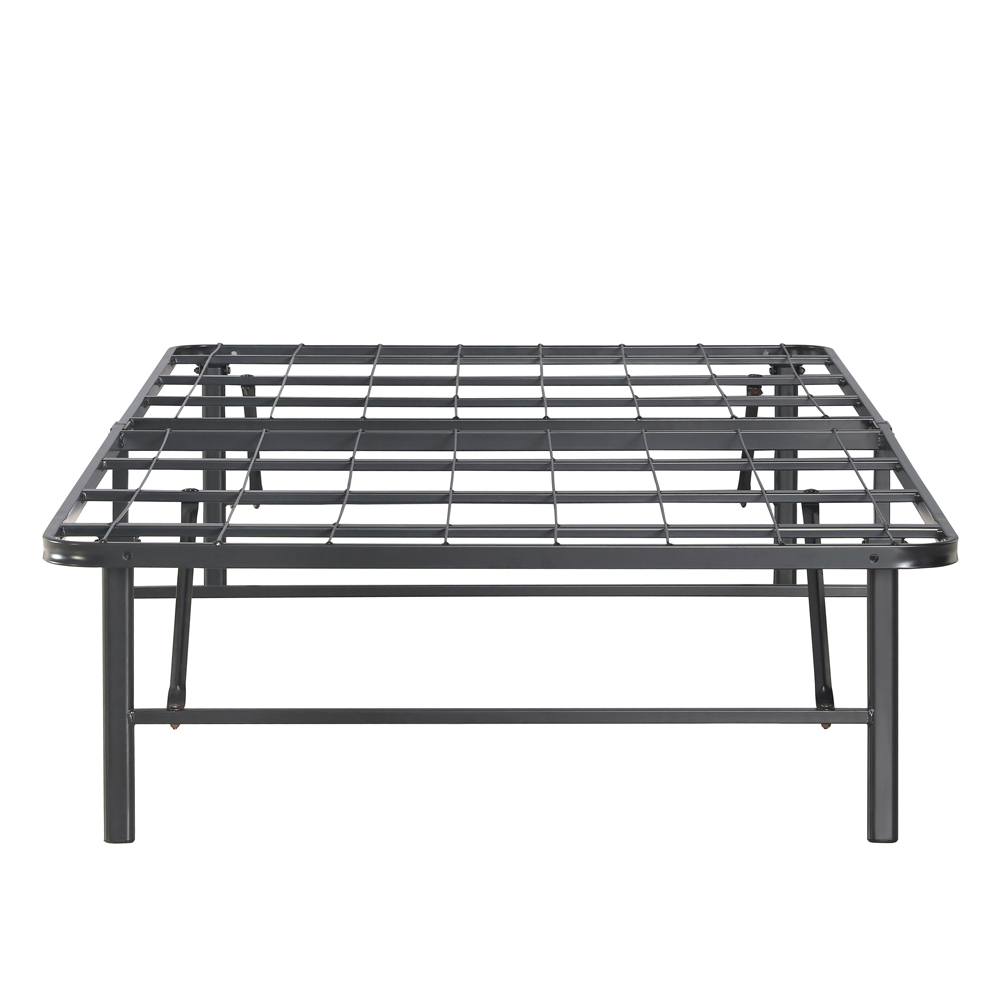 Black 1 Ikayaa Modern Heavy Duty Platform Metal Bed Frame