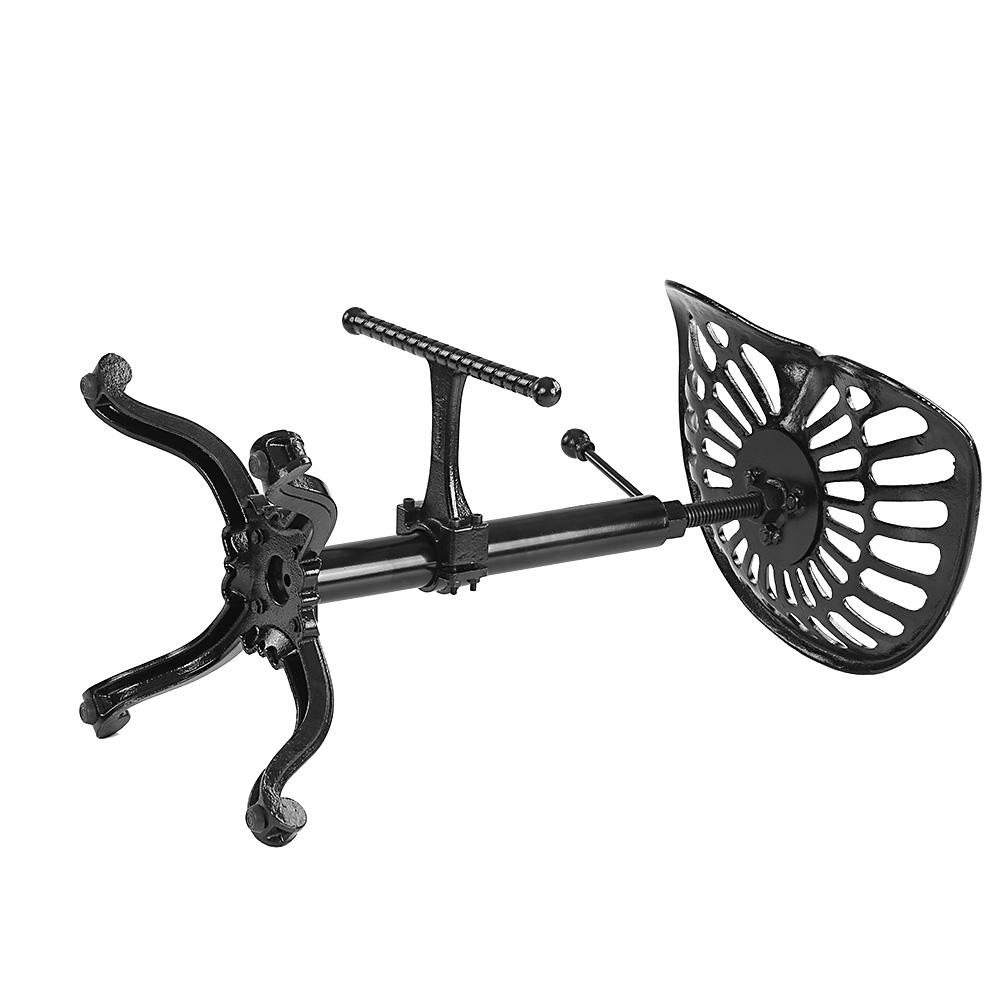Black Ikayaa Industrial Style Cast Iron Tractor Seat Bar