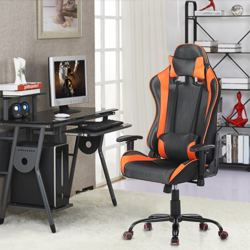 chaise de bureau gaming chaise gaming chaise de bureau racer sport rouge noir hjh office achat. Black Bedroom Furniture Sets. Home Design Ideas