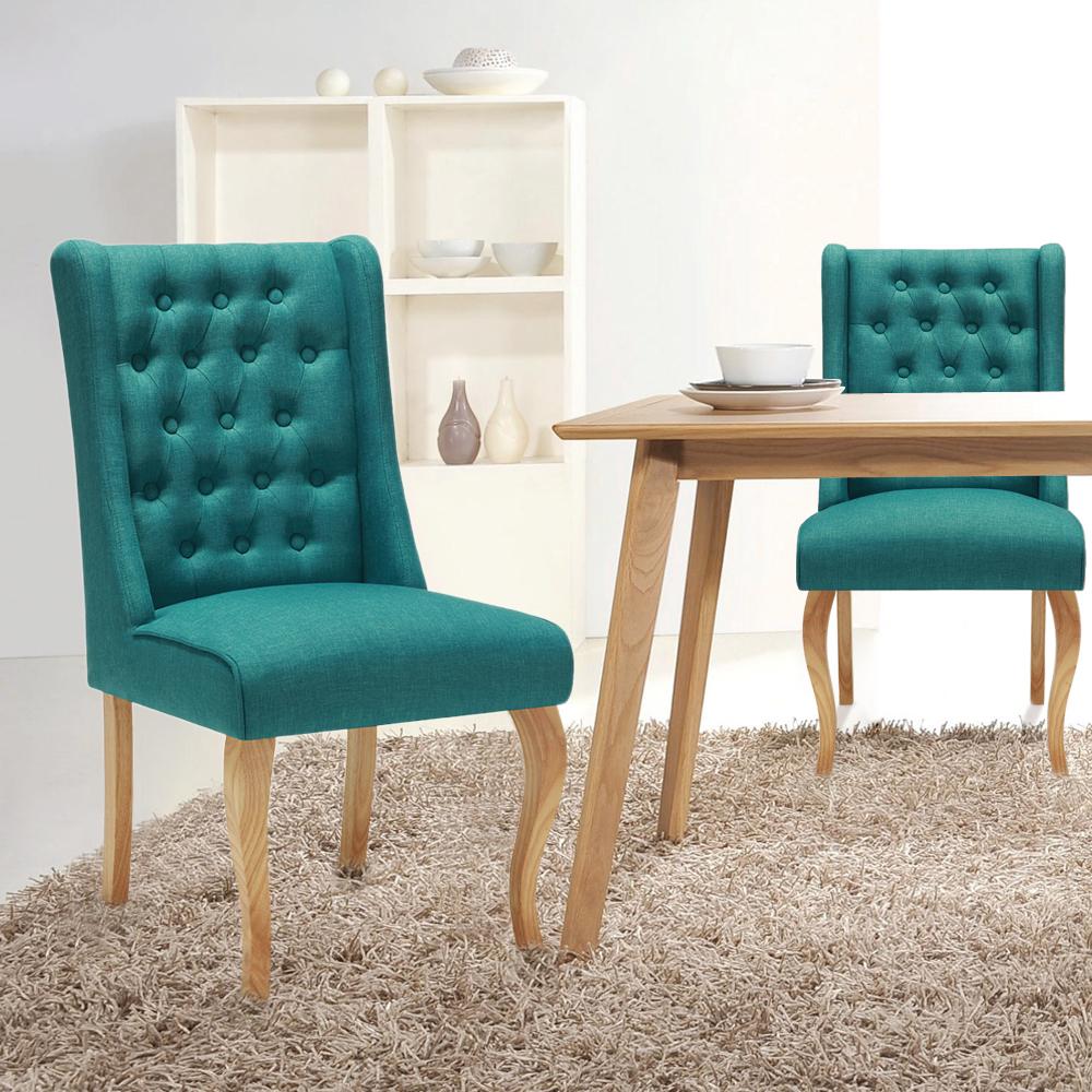Ikayaa antike art tufted küche dining chair leinengewebe akzent stuhl polsterseiten wohnzimmer stuhl w
