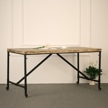 iKayaa Rustic Pine Wood Kitchen Dining Coffee Table - daily deals | lovdock.com