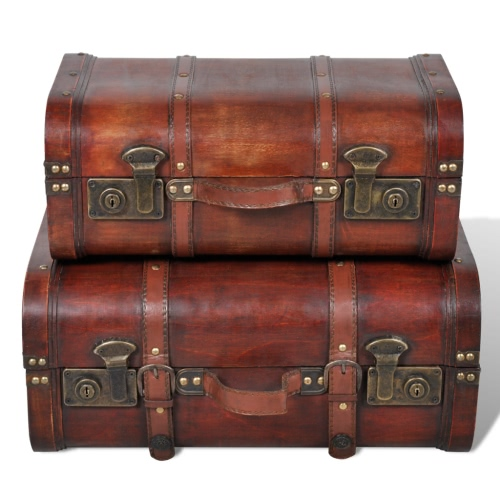 Trunks Wooden Vintage 2pz