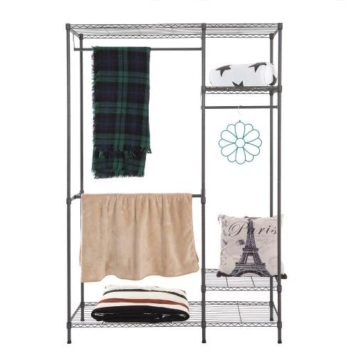 Multi-functional Garment Rack Closet Organizer