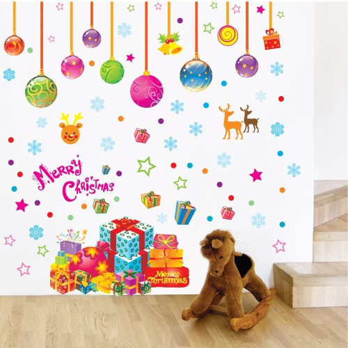 Christmas Removable Art Decals Mural DIY Wallpaper