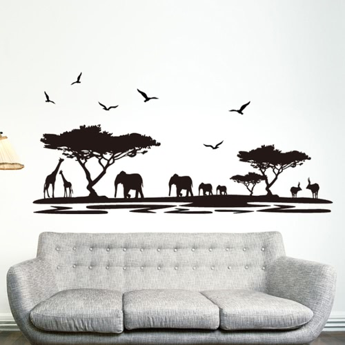 Removable African Animals DIY Wallpaper
