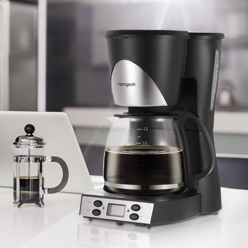 Homgeek 1.5L 12 Cups Programmable Coffeemaker