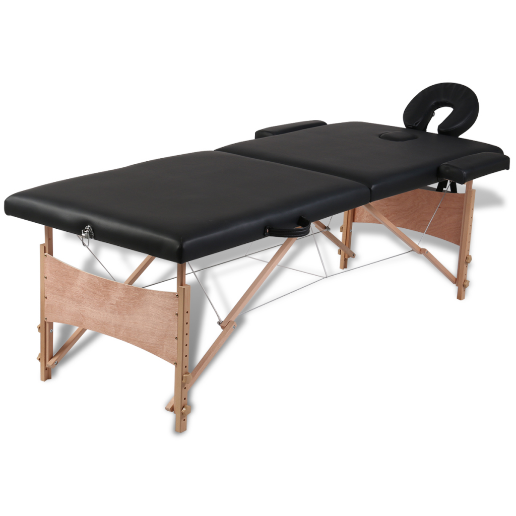 Only noir pliable table de massage 2 zones avec - Acheter table massage ...
