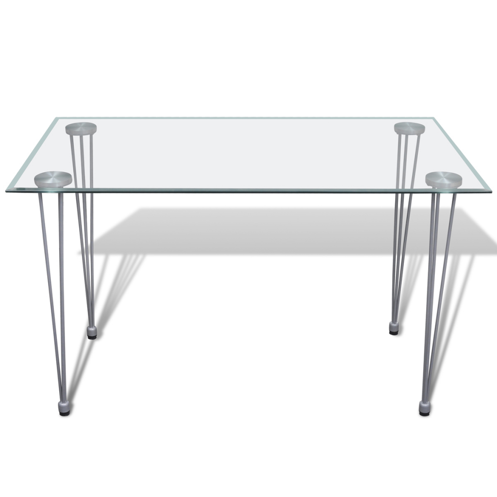 Only table manger table manger avec plaque de - Table a manger transparente ...