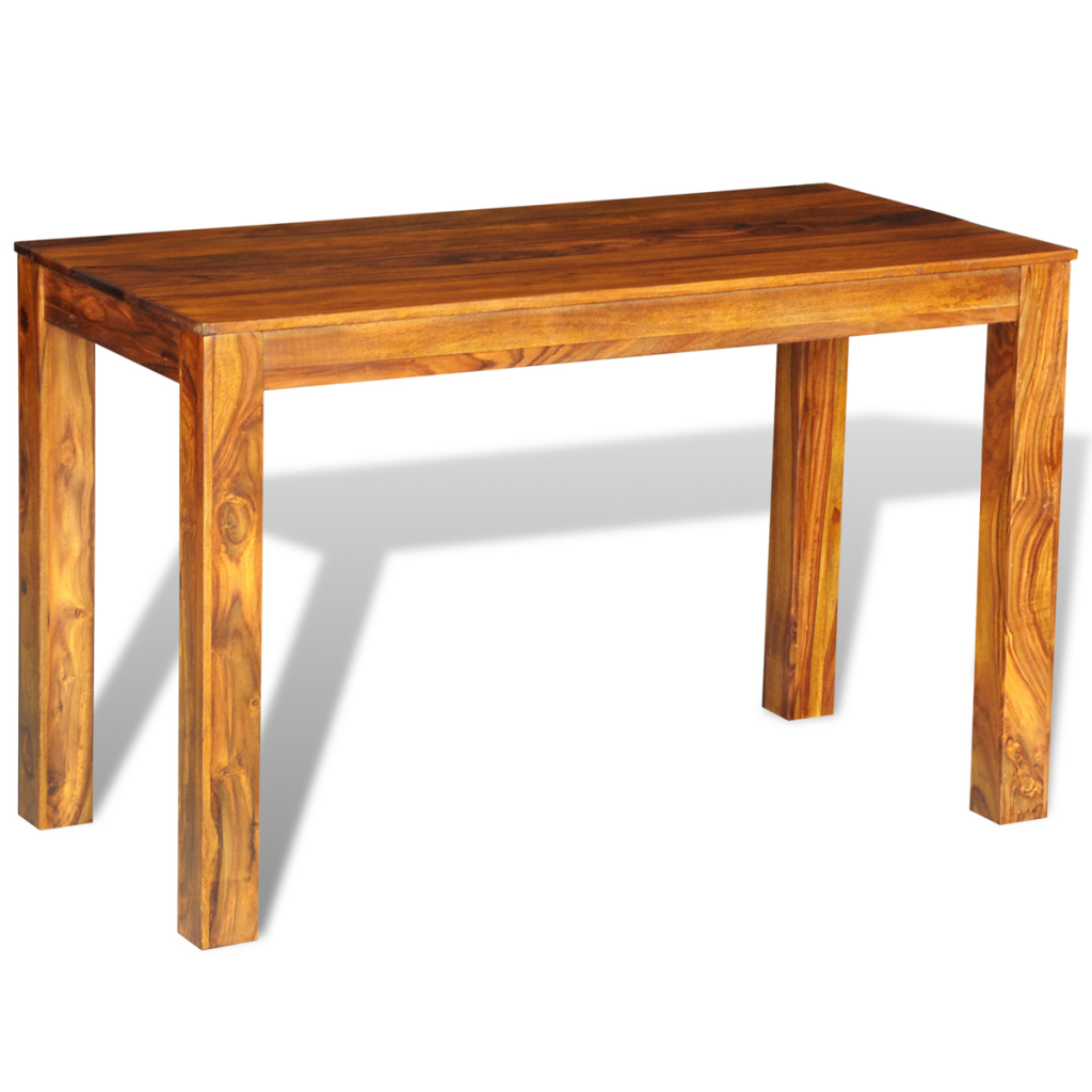 Wood sheesham solid wood dining table 120 x 60 x 76 cm for Solid wood dining table