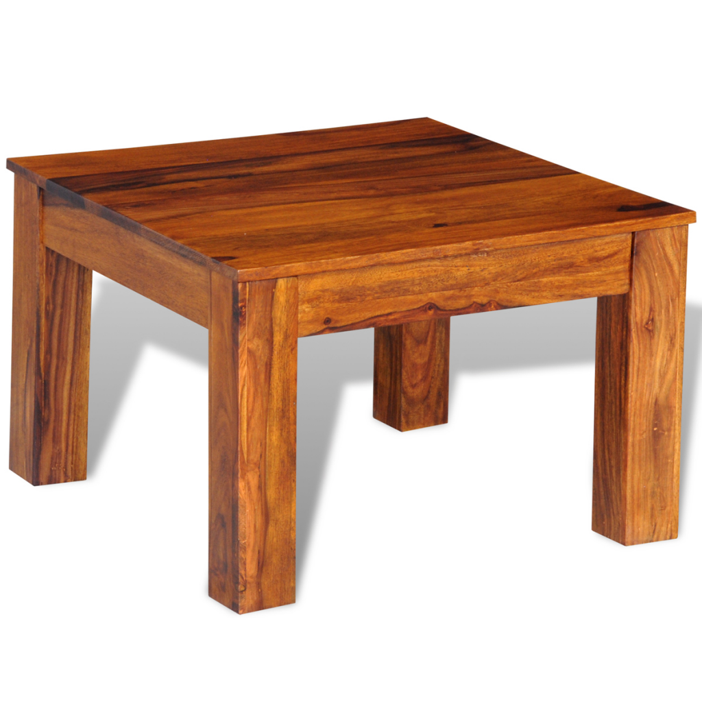 Wood sheesham solid wood coffee table 60 x 60 x 40 cm for Coffee table 60 x 40