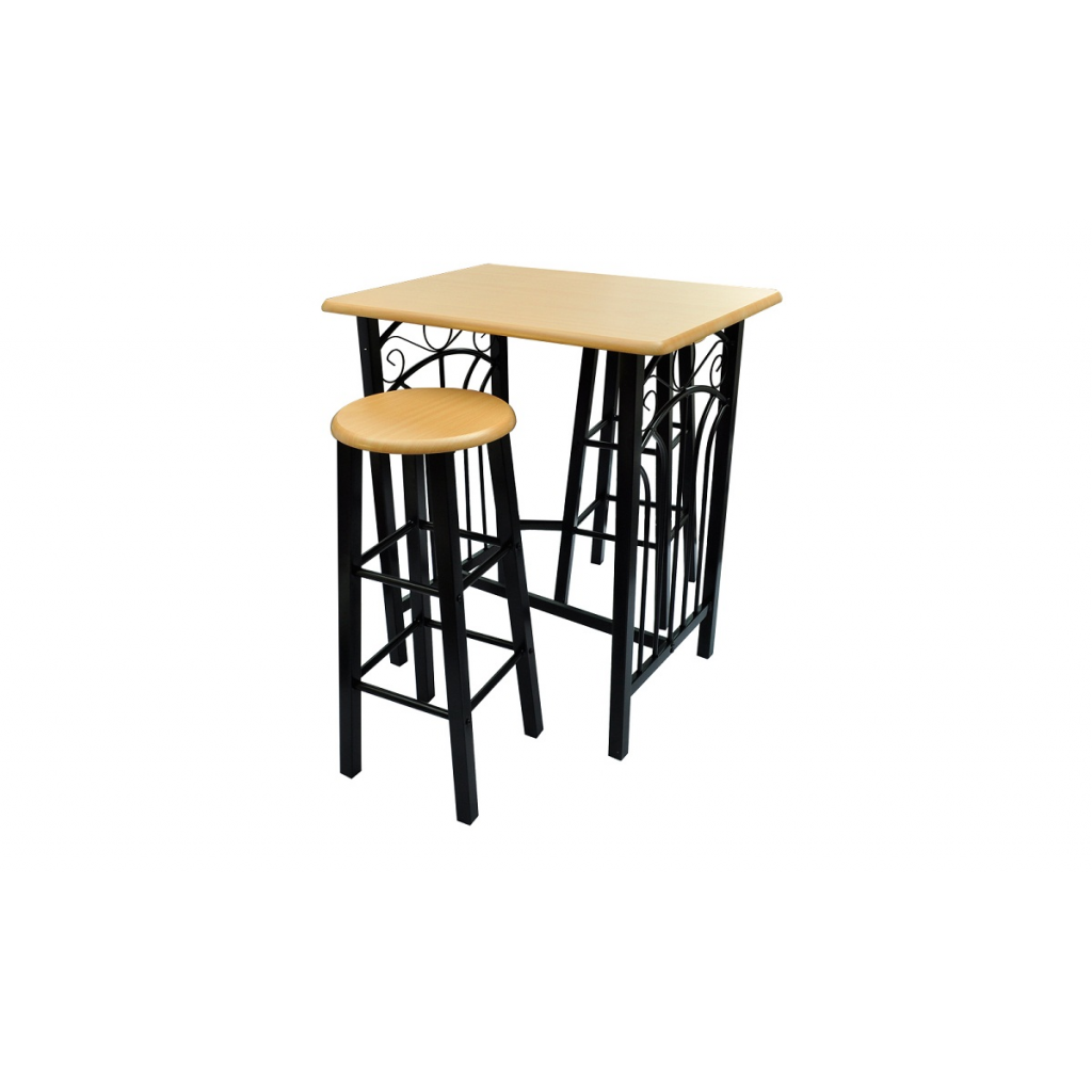 Only lot d 39 une table haute de bar avec 2 tabourets for Table bar avec tabouret