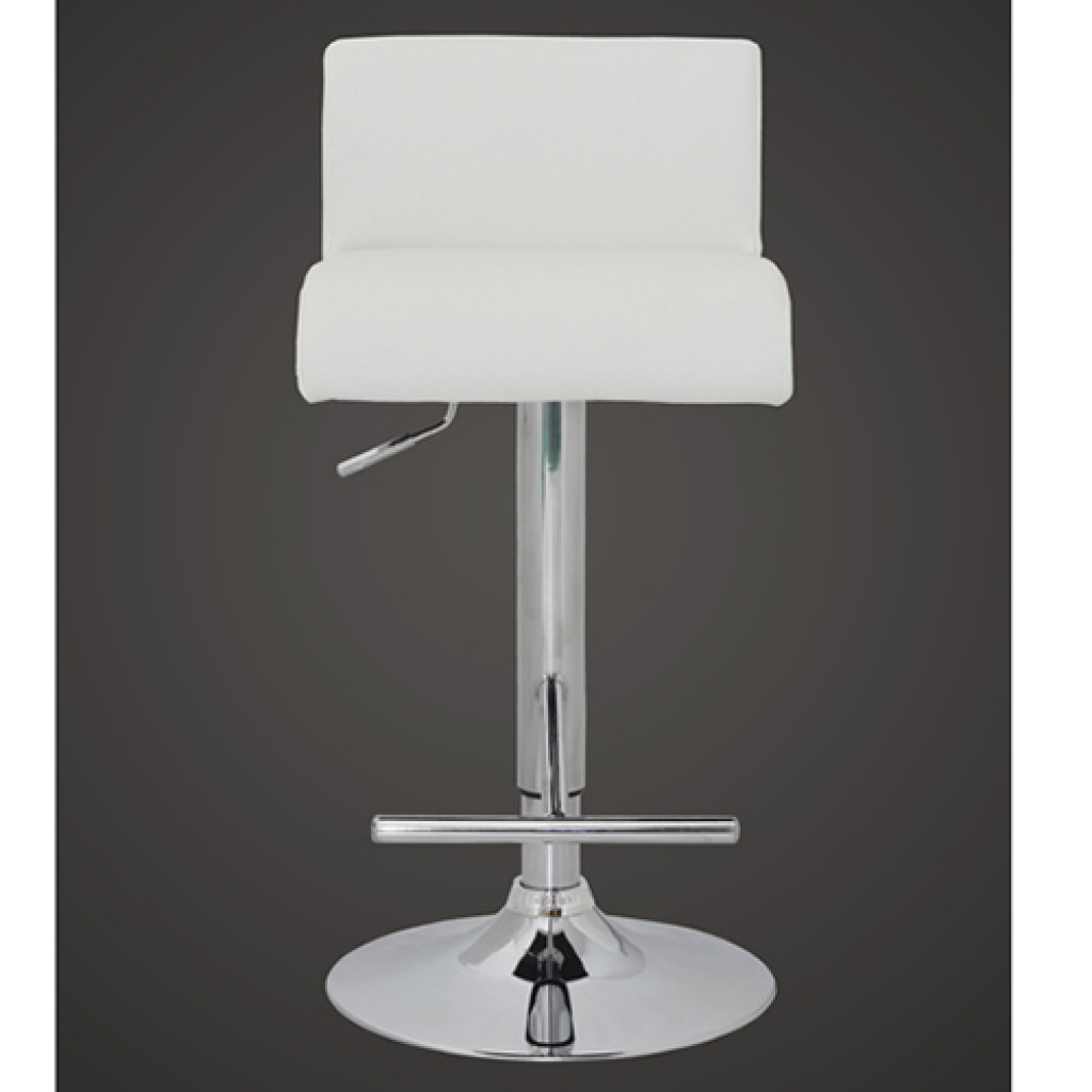 white Set of 2 White Bar Stool with T bar Footrest  : 241877US 1 SItg from www.lovdock.com size 1024 x 1024 png 225kB