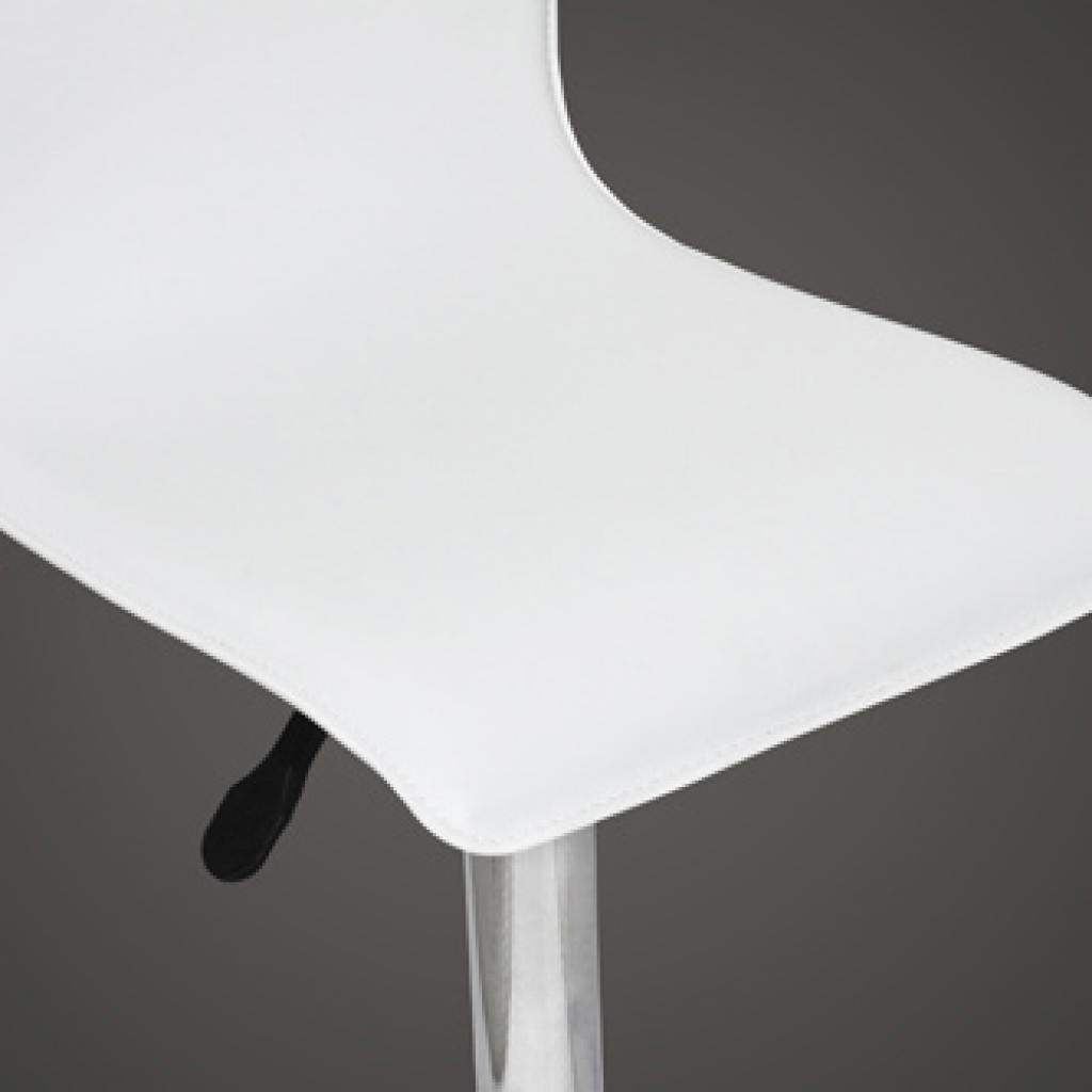 white Set of 2 White PVC Bar Stool with High Backrest  : 241883US 3 lWv8 from www.lovdock.com size 1024 x 1024 png 153kB