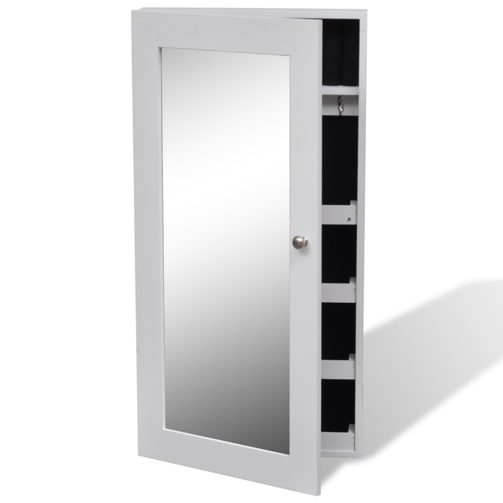 only bijoux mur blanc armoire murale avec miroir. Black Bedroom Furniture Sets. Home Design Ideas