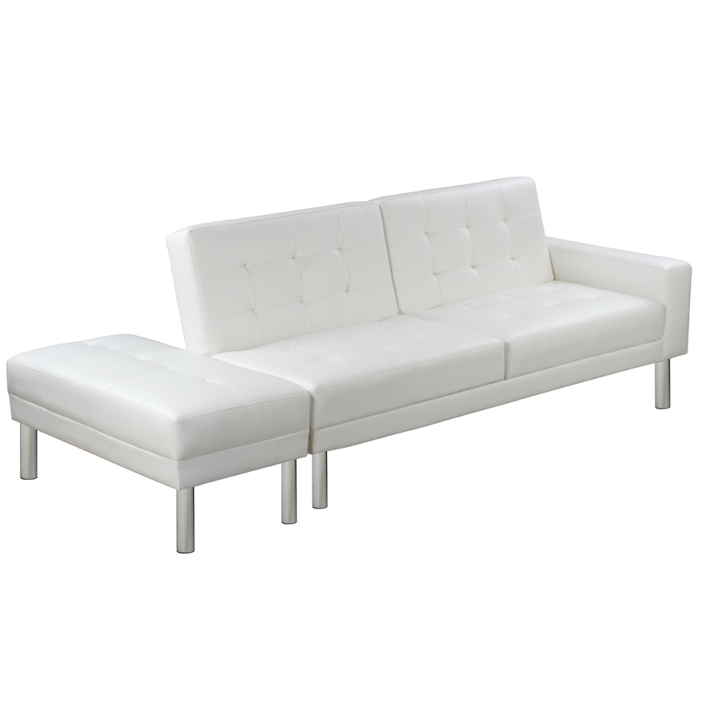 white white adjustable sofa bed artificial leather lovdock