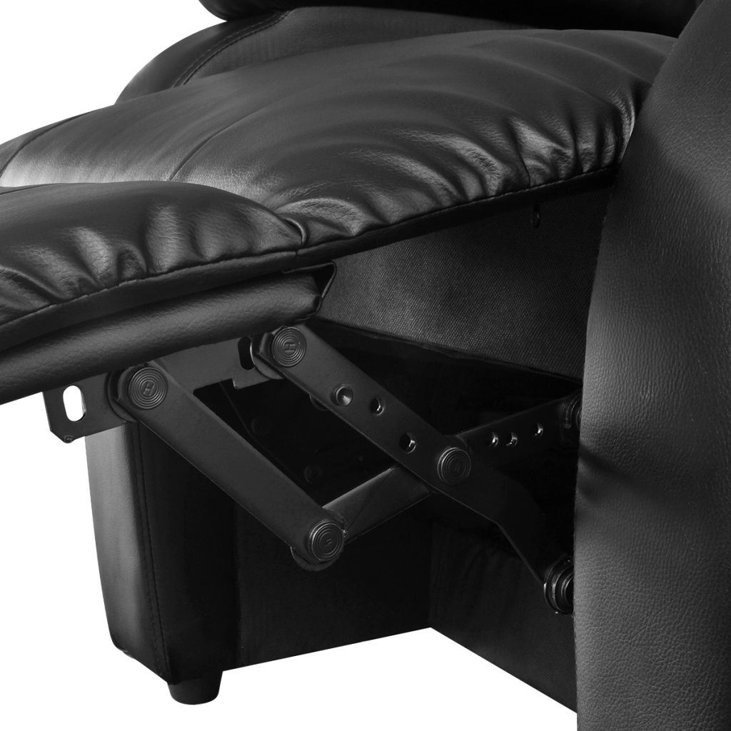 Electric tv recliner massage chair black with a footstool www vidaxl - Electric Massage Recliner Chair Artificial Leather Black