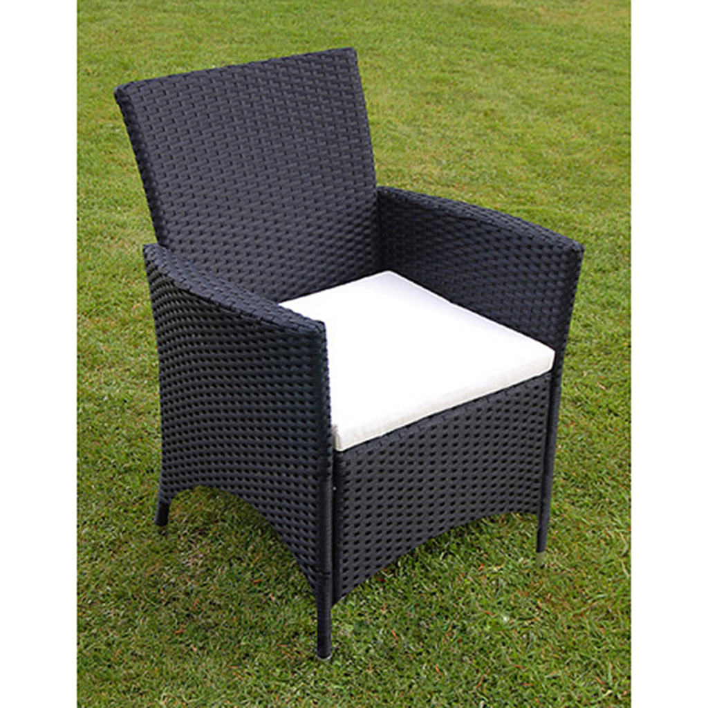 nur 13 st ck gartenm bel set schwarz polyrattan. Black Bedroom Furniture Sets. Home Design Ideas