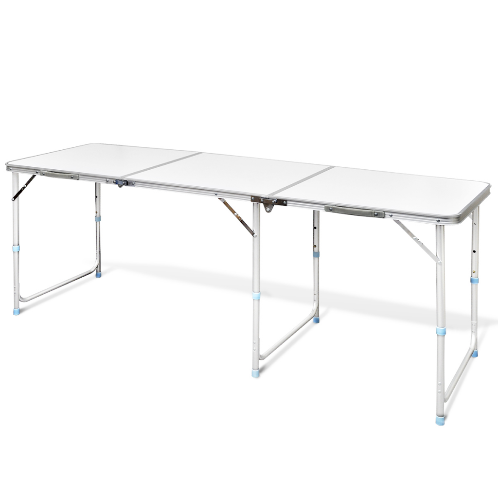 white aluminum camping folding table 180 x 60 cm. Black Bedroom Furniture Sets. Home Design Ideas