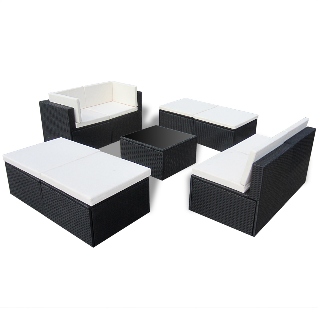 Black Rattan Sofa Set Patio Furniture For Small Es Rounded Best Wood Garden Thesofa
