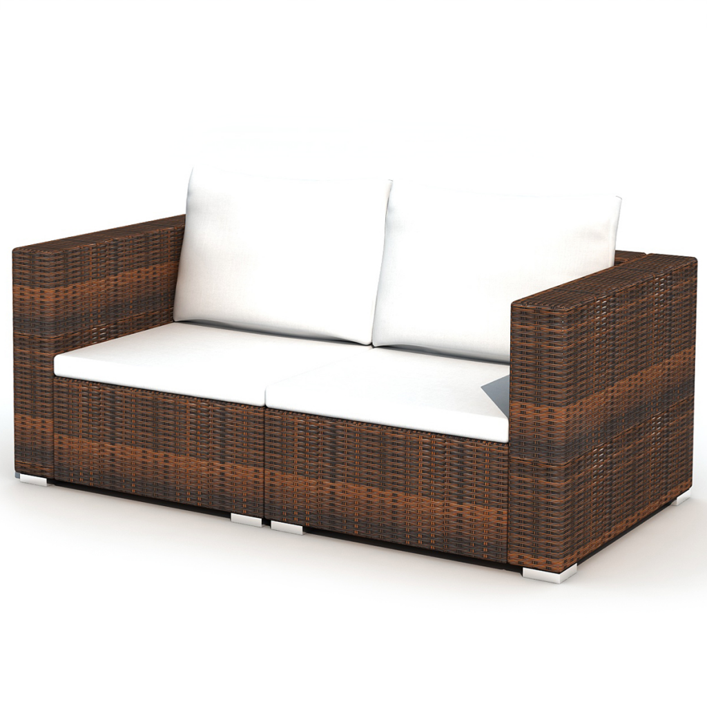 Großartig brown 28 Piece Dining Lounge Set Brown Poly Rattan - LovDock.com XZ43