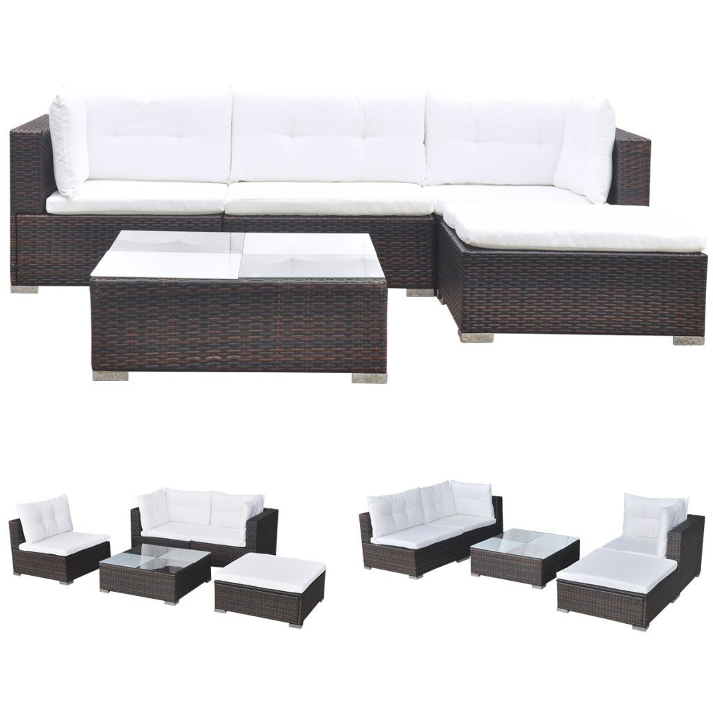 rattan outdoor sofa 4pc outdoor patio garden furniture wicker rattan sofa set black thesofa. Black Bedroom Furniture Sets. Home Design Ideas
