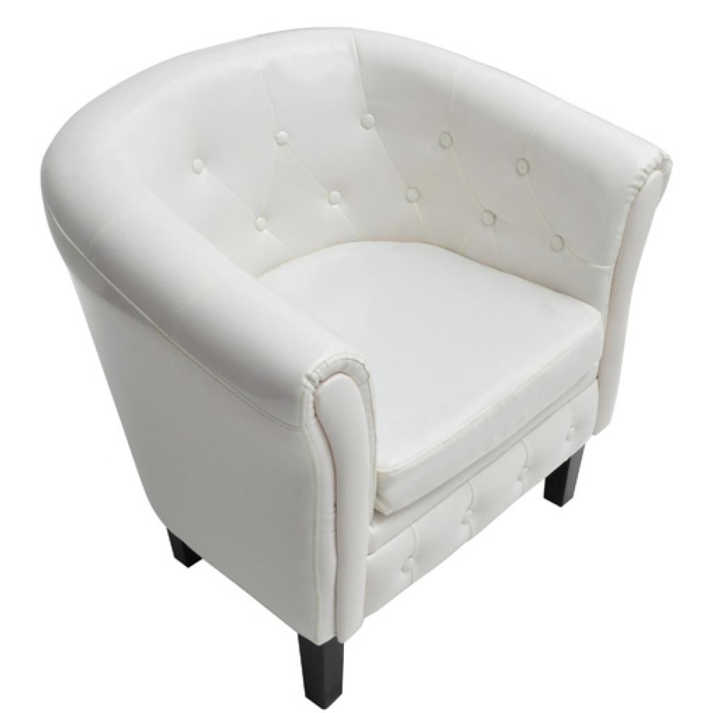 White chesterfield chair - Chesterfield Armchair White