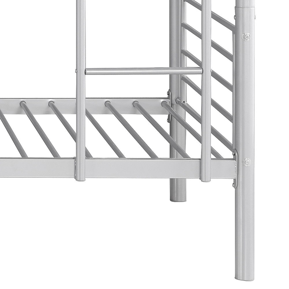 Single metal bed frames - Ikayaa Modern Single Over Single Metal Bunk Bed Frame