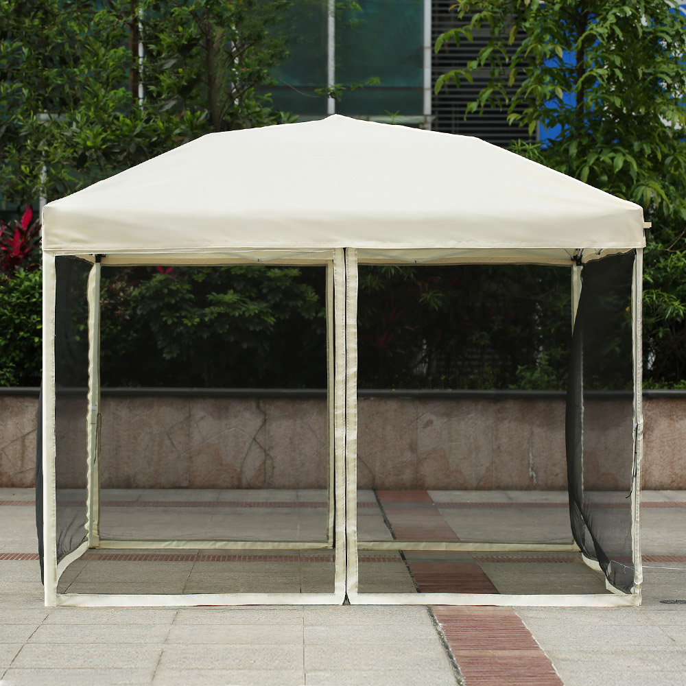 IKayaa 3*3*2.6M Folding Outdoor Patio Canopy Gazebo Tent