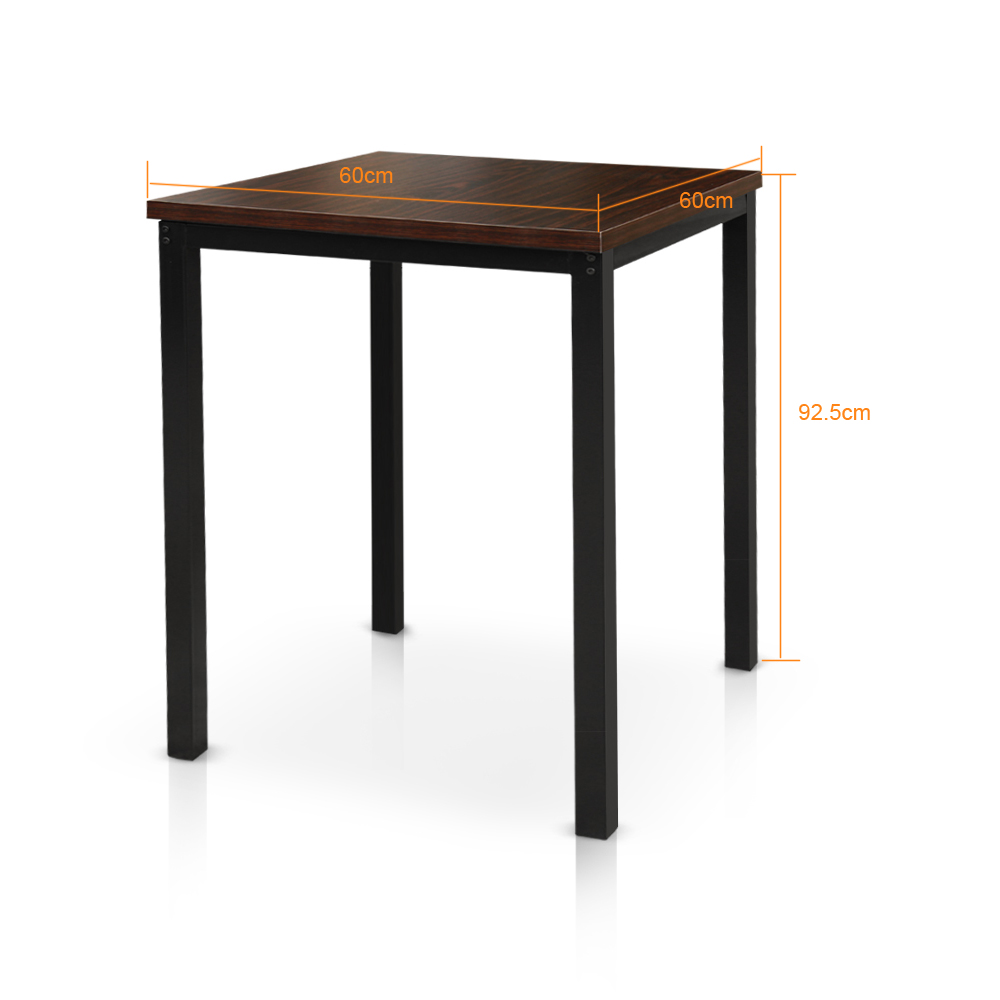Dark brown ikayaa modern 3pcs pub bar table with 2 chairs for Table 30 personnes