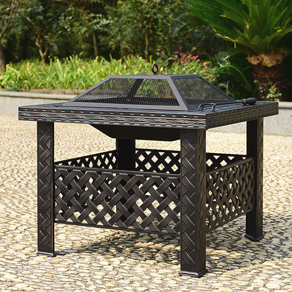 ikayaa metal garden backyard patio outdoor fire pit lovdock com