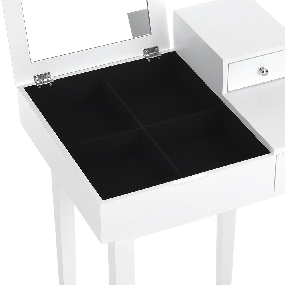 Solo 71.37€, iKayaa Camera Contemporanea Vanity Tavolo Make Up Dressing Table W / specchio e ...