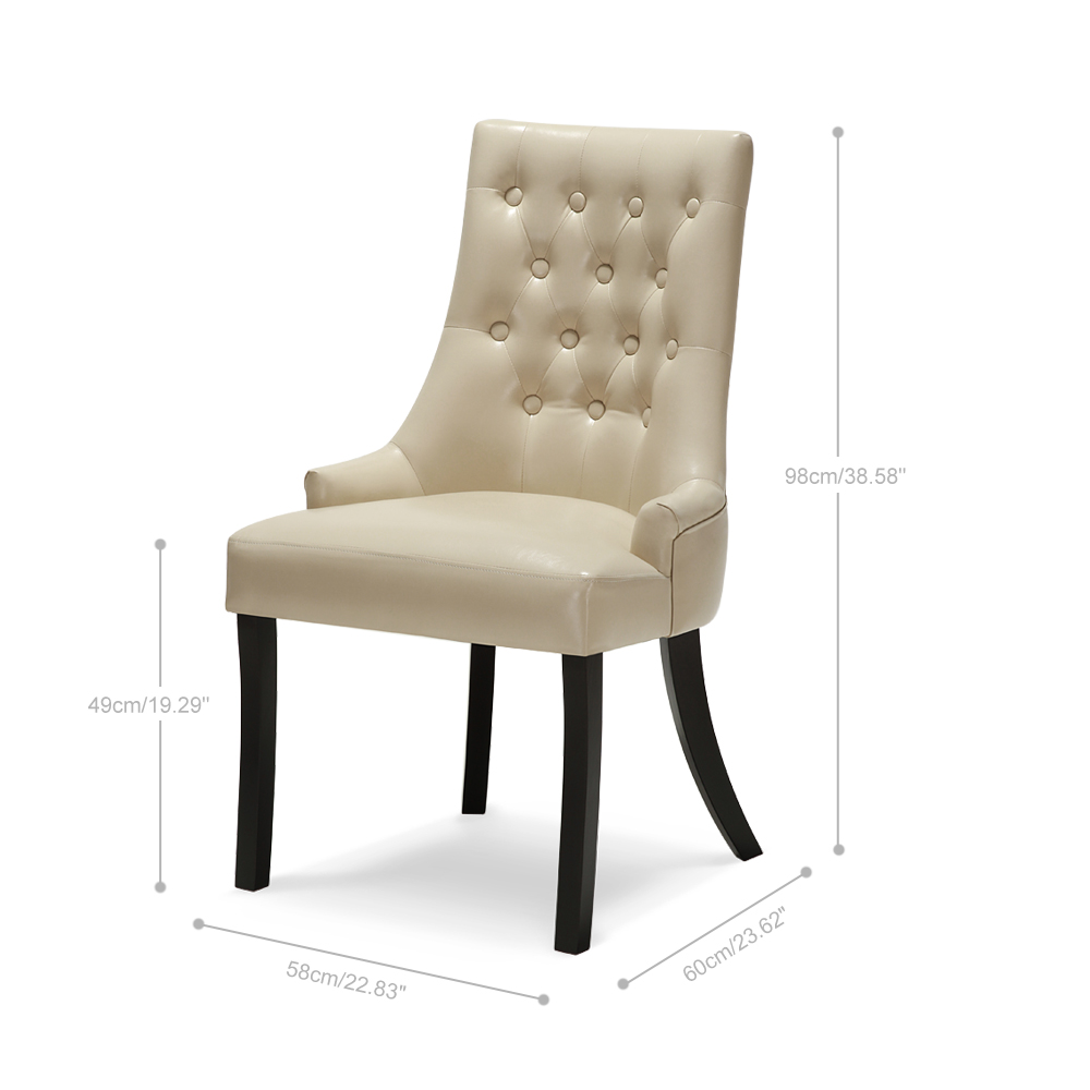 Kitchen Accent Furniture: Beige IKayaa Accent Leather Kitchen Dining Chair