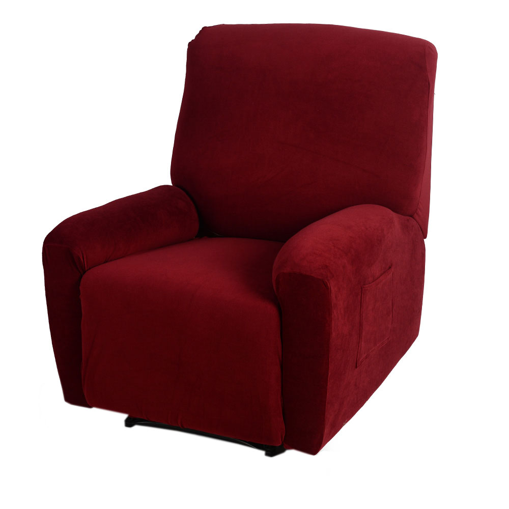Red Elastic Soft Polyester Spandex Recliner Cover