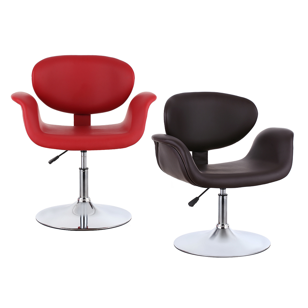 Brown ikayaa modern ergonomic leather salon barber for Hairdressing chairs
