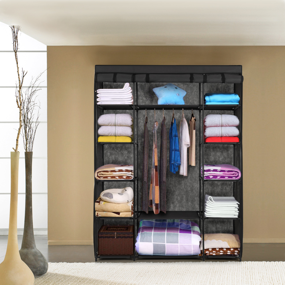 only ikayaa armoire de rangement pour v tements. Black Bedroom Furniture Sets. Home Design Ideas