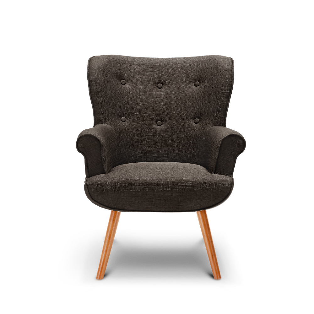 gray ikayaa contemporary fabric accent living room chair