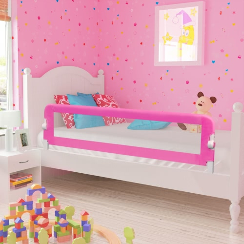 Safety Barrier for Baby Bed 150 x 42 cm Pink