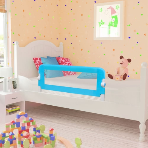 Safety Barrier for Baby Bed 102 x 42 cm Blue