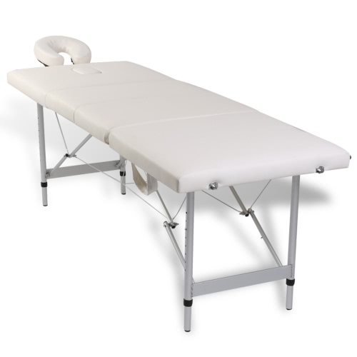 Folding Cot Massage Cream White Zone 4 with Aluminum Frame (TOMTOP) Santa Rosa Prices for the announcement
