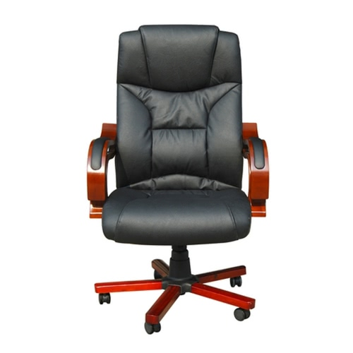 Black Real Leather Office Chair (TOMTOP) Concord Buy Sell
