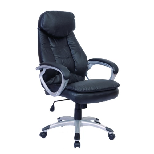 Leather Office Chair (Black)