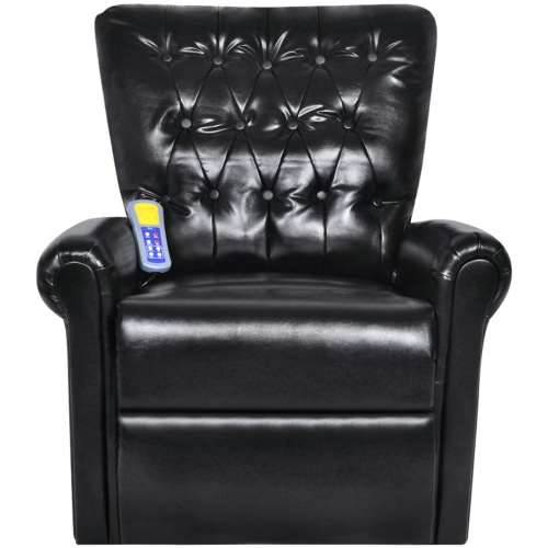 Black Electric Artificial Leather Recliner Massage Chair 9410 Product Photo