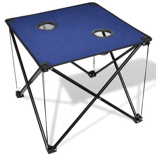 Folding table blue camping