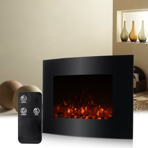 decdeal xl large electric wall fireplace 3d flame heater. Black Bedroom Furniture Sets. Home Design Ideas